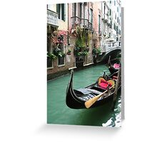 Gondola at The Restaurant Greeting Card