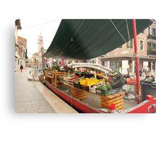 Selling fruits in Venice Metal Print