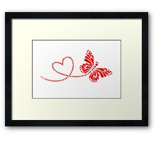 Butterfly, Heart, Forever Love, Valentine´s Day Framed Print