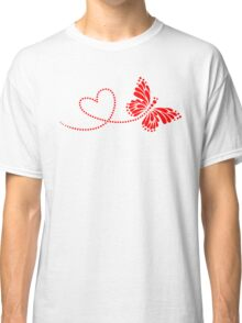 Butterfly, Heart, Forever Love, Valentine´s Day Classic T-Shirt