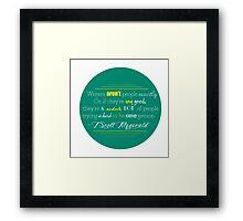 F Scott Fitzgerald Quote Framed Print