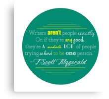 F Scott Fitzgerald Quote Canvas Print