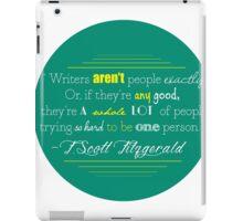 F Scott Fitzgerald Quote iPad Case/Skin