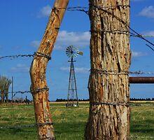 Kansas Country Framed Windmill by ROBERTDBROZEK