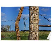 Kansas Country Framed Windmill Poster