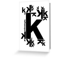 KAFKAESQUE Greeting Card