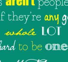 F Scott Fitzgerald Quote Sticker