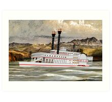 The Robert E Lee Paddle Wheeler 1866 Art Print
