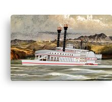 The Robert E Lee Paddle Wheeler 1866 Canvas Print