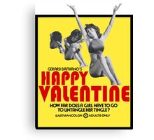 Happy Valentine - Love from Linda Canvas Print