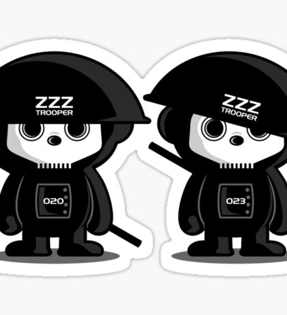 Zzz Trooper Sticker