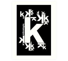 KAFKAESQUE (BLACK) Art Print