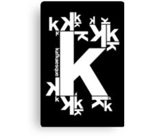 KAFKAESQUE (BLACK) Canvas Print