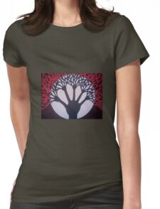 Tree of Life & Death Womens Fitted T-Shirt