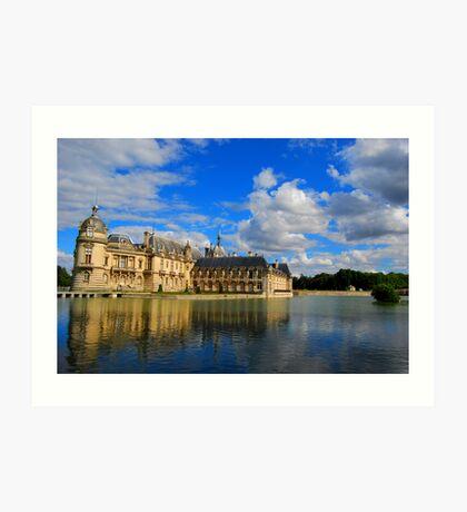 Chateau de Chantilly  Art Print