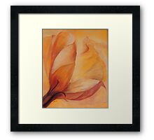 Flower with a touch of Orange Framed Print
