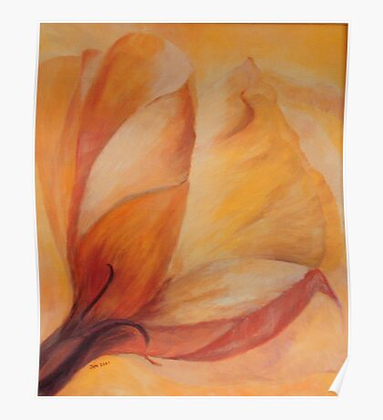 Flower with a touch of Orange Poster