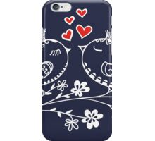 LOVE BIRDS, VALENTINE`S DAY, HEARTS, COLOR iPhone Case/Skin