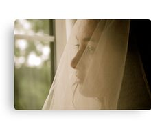 Excited Bride!  Canvas Print