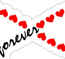 Forever Love, Infinity Loop, Hearts, VALENTINE`S DAY Sticker