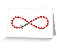 Forever Love, Infinity Loop, Hearts, VALENTINE`S DAY Greeting Card