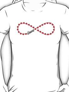 Forever Love, Infinity Loop, Hearts, VALENTINE`S DAY T-Shirt