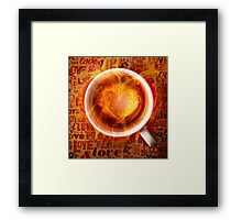 Burning love is in your feature. Framed Print