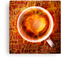 Burning love is in your feature. Canvas Print