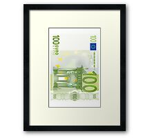100 Euro Note Framed Print