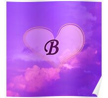 Heart with Monogram B Poster