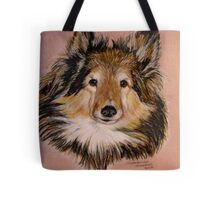"""""""Jammers"""" Portrait Of A Sheltie Tote Bag"""