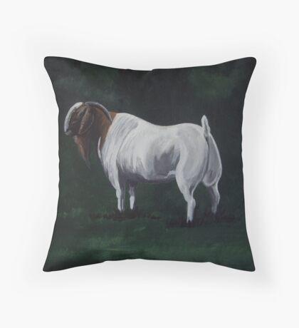 Majestic Boer Buck Throw Pillow