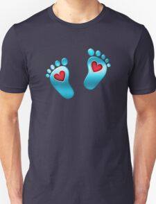 Baby feet with heart Unisex T-Shirt