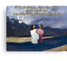 ✌☮ REBIRTH AND RENEWAL BIBLICAL ✌☮  Canvas Print