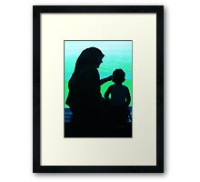 A mother... Framed Print