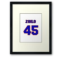 National baseball player Zoilo Almonte jersey 45 Framed Print