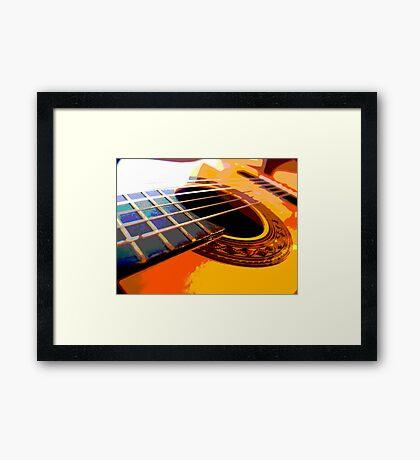 six string Framed Print
