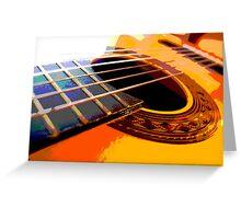 six string Greeting Card