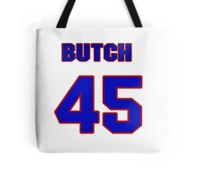 National baseball player Butch Metzger jersey 45 Tote Bag