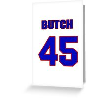 National baseball player Butch Metzger jersey 45 Greeting Card