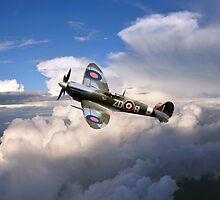 Spitfire Air to Air by J Biggadike