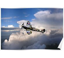 Spitfire Air to Air Poster