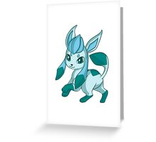 Chibi Glaceon Greeting Card