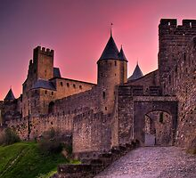The Aude Gate - Cité de Carcassonne (Sunrise) by antonywilliams