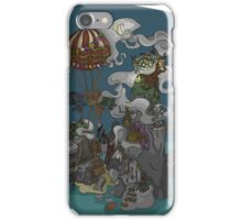 Hotair Balloon and the Lagoon iPhone Case/Skin
