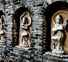 Buddha's Garden Wall by Bobby McLeod