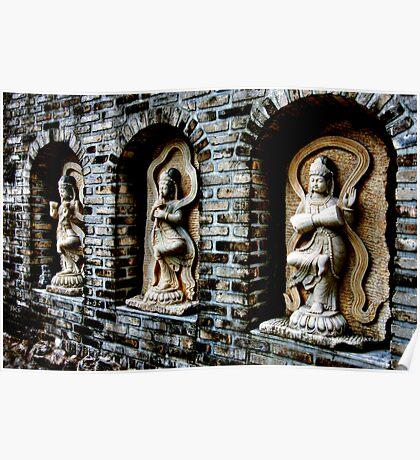 Buddha's Garden Wall Poster