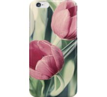 Twin Tulips in Pastel Pink iPhone Case/Skin