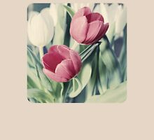 Twin Tulips in Pastel Pink Womens Fitted T-Shirt