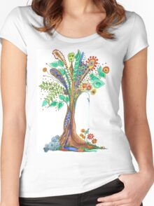 Tree of Life 11 Women's Fitted Scoop T-Shirt